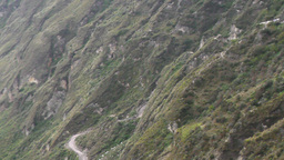 Quilotoa Crater Descent Route Live Action