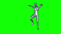 Chrome Girl Dancing (Green Screen) Animation