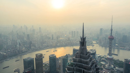 Aerial View Of Shanghai, China,4k stock footage