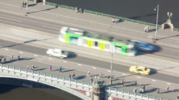 4k Timelapse Video Of Traffic On A Bridge In Daytime stock footage