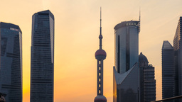 The Oriental Pearl Tower stock footage