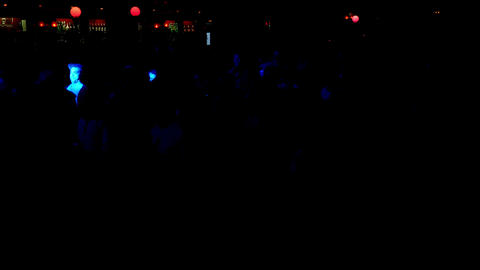 Barcelona Night Disco Party Crowded Sala Apolo Live Action