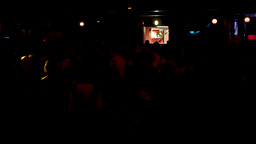 Barcelona Night Disco Party Dj Session Sala Apolo stock footage