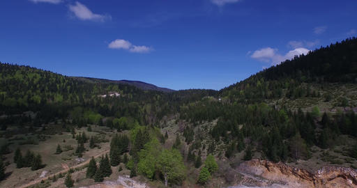 4K aerial mountaint road and nature Footage