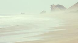 Empty beach in Ecuador Footage