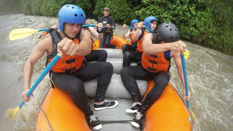 Whitewater rafting team Footage