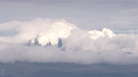 Cayambe Volcano Time Lapse stock footage