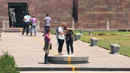 Mitad Del Mundo monument in Quito Footage