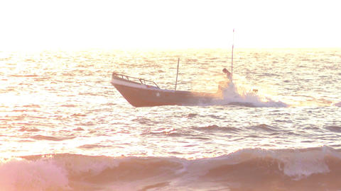 Powerboat on blue waters Footage