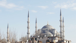blue mosque istanbul turkey Footage