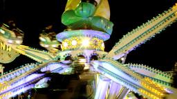carnival fair ground ride circus lights Footage