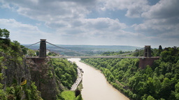 clifton suspension bridge bristol uk transport gorge nature Footage