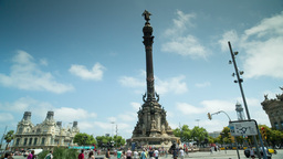Barcelona Colon Tourist Vacations Urban stock footage