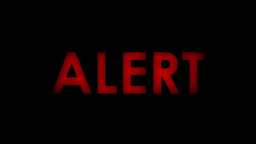 Alert red message text two speeds 4k Footage