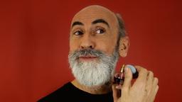 Bearded Old Man Perfume stock footage