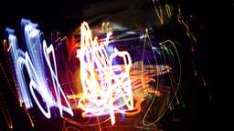 crazy fire lights abstract neon pattern Footage