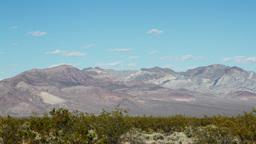 mountain range in death valley california Footage