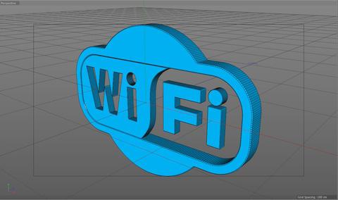 Wi-Fi logo model C4d 3D Model