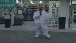 mexican pharmacy doctor dance promotion Footage