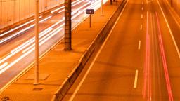 barcelona city traffic urban road transport night Footage