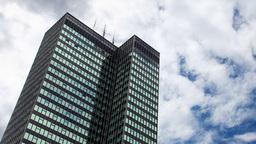 Euston London Skyscraper Clouds Building City Urban stock footage