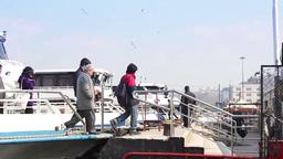 ferry passengers istanbul bosphorus tourists Footage