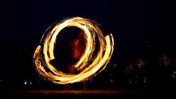 fire thrower tribal poi juggler man acrobat Footage
