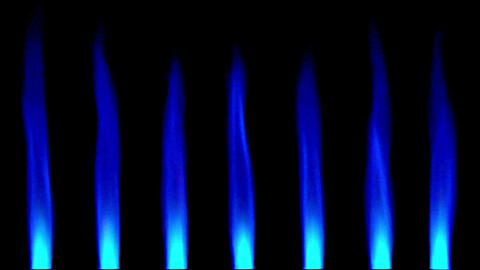 10644 gas flames up background loop Stock Video Footage