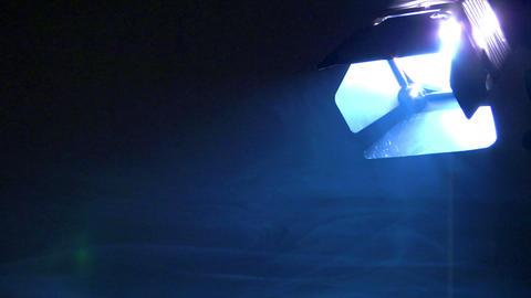 10646 background spotlight down smoke loop Stock Video Footage