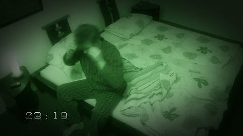 10652 sleepless sleep night camera time lapse wide clock Stock Video Footage