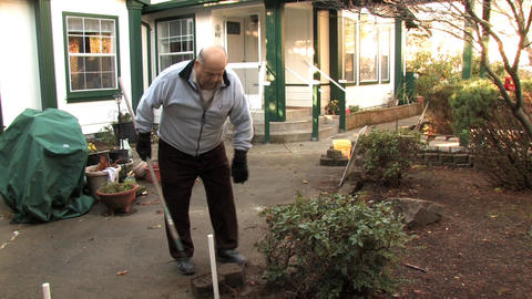 A Senior Gardening Stock Video Footage
