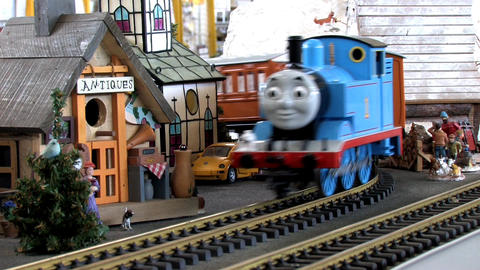 Toy Scale Trains Stock Video Footage