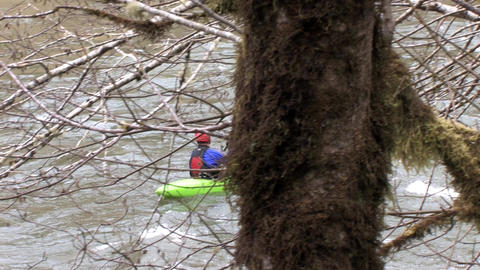 Man on a Kayak Stock Video Footage