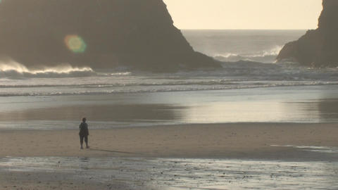 People Walking on the Beach Stock Video Footage