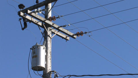 Power Lines Stock Video Footage