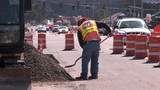 Road Work stock footage
