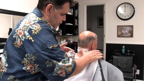 Senior Haircut Stock Video Footage