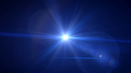 deep blue flare rotate Stock Video Footage