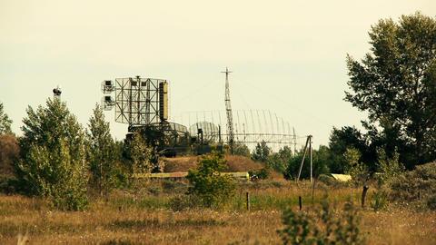 military radar station Stock Video Footage