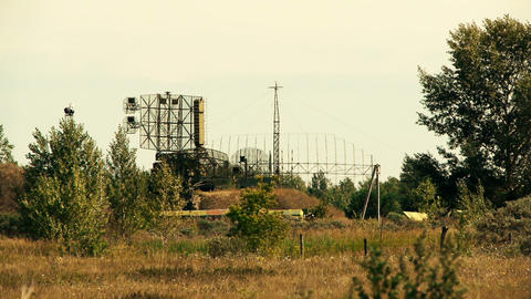 military radar station Stock Video Footage