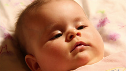 Baby 30 happy extreme closeup Stock Video Footage