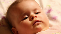 Baby 30 happy extreme closeup Footage