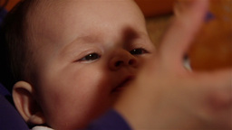 Baby 32 eating feeding Stock Video Footage