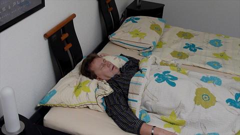 10653 sleepless sleep position time lapse close Stock Video Footage