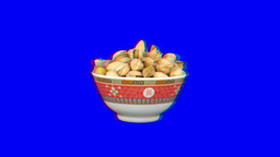 Stereoscopic 3D of rotating seemless looping peanuts (Combo) 2 Footage