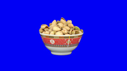 Stereoscopic 3D of rotating seemless looping peanuts... Stock Video Footage