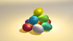 easter color eggs hill CG動画素材