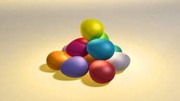 easter color eggs hill Stock Video Footage