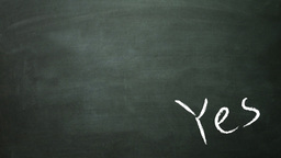 yes and no in blackboard Stock Video Footage