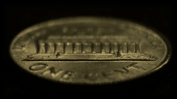 One-cent United States coin, reverse side Stock Video Footage